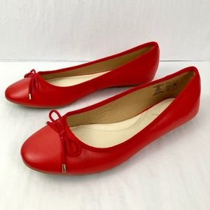 Lands End Bow Round Toe Ballet Flats